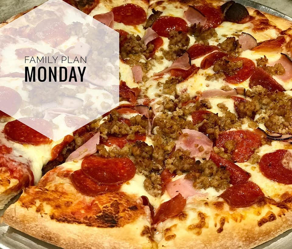 pizza for family plan monday